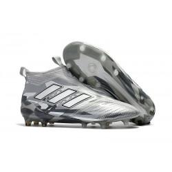 Zapatillas adidas de Futbol Ace 17 + Purecontrol FG - Gris Blanco