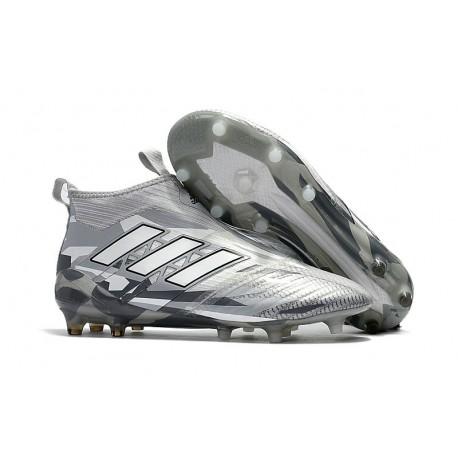 Zapatillas adidas de Futbol Ace 17 + Purecontrol FG Gris Blanco