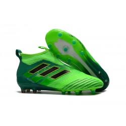 Zapatillas adidas de Futbol Ace 17 + Purecontrol FG - Verde Negro