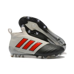 Adidas ACE 17+ Purecontrol Botas de fútbol de tierra firme Gris Negro Rosso