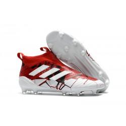 Adidas ACE 17+ Purecontrol Botas de fútbol de tierra firme Rojo Blanco