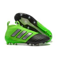 Adidas ACE 17+ Purecontrol Botas de fútbol de tierra firme Verde Negro