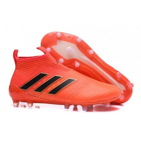 1515917e38991 Botas de fútbol Adidas ACE 17+ Pure Control FG - Naranja Negro