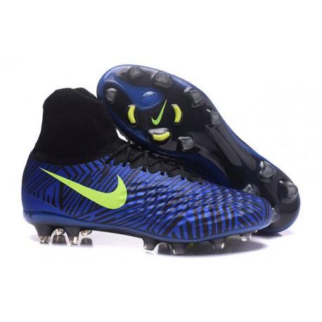 new styles 75db7 da932 Nike Magista Obra II FG ACC Hombres Botas de Fútbo - Azul Profundo
