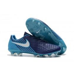 Nike Magista Opus Ii Tc Fg Botas de Fútbol para Hombre - Azul Blanco
