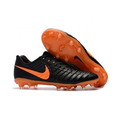 e4e4280837dea Nike Tiempo Legend VII FG ACC Zapatos de Futbol - Negro Naranja