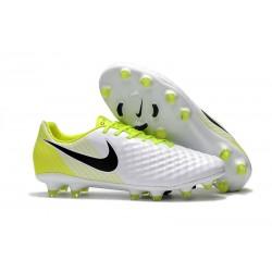 Nike Magista Opus II FG Zapatillas de Futbol - Blanco Amarillo