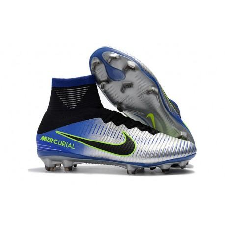 Nike Neymar Mercurial Superfly 5 DF FG Tacos de Fútbol - Cromo Azul 10ca6dd0f53e7