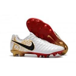 Nike Tiempo Legend VII FG ACC Zapatos de Futbol - Blanco Oro