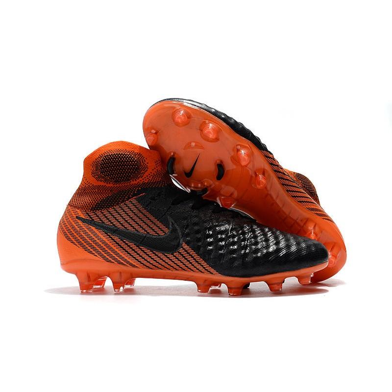 Nike Nuevo Zapatillas de Negro futbol Magista Obra II FG Negro de Naranja 3f3596