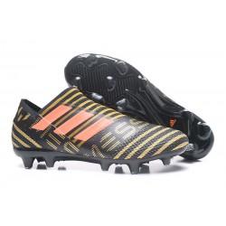 Bota de fútbol adidas Nemeziz Messi 17+ 360 Agility FG - Negro Oro Naranja