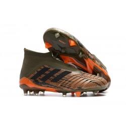 Bota de Fútbol para Hombre Adidas Predator 18+ FG -Verde Naranja Negro