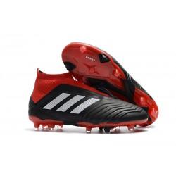 Bota de Fútbol para Hombre Adidas Predator 18+ FG - Negro Rojo Blanco