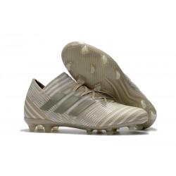 adidas Nemeziz Messi 17.1 FG botas de fútbol para hombre - Blanco Or