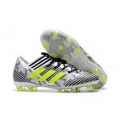 adidas Nemeziz Messi 17.1 FG botas de fútbol para hombre - Blanco Negro Amarillo