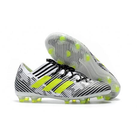 adidas Nemeziz Messi 17.1 FG botas de fútbol para hombre - Blanco Negro  Amarillo e52ef88cc4110