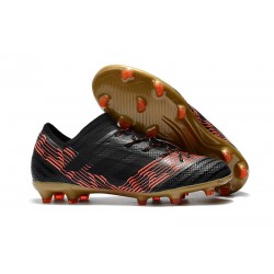 adidas Nemeziz Messi 17.1 FG botas de fútbol para hombre -Negro Rosso Oro