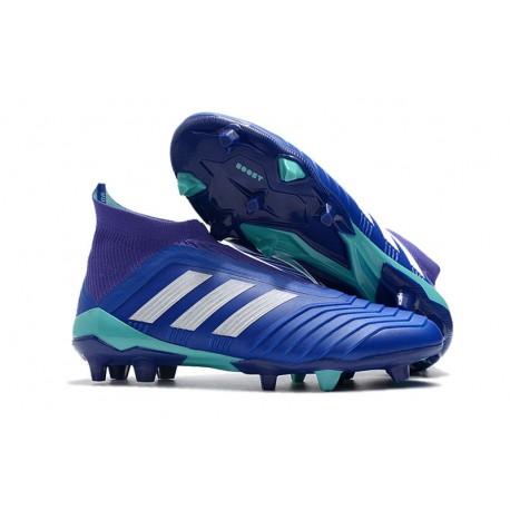 Bota de Fútbol para Hombre Adidas Predator 18+ FG - Azul Blanco 592901a0483a6