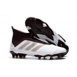 Bota de Fútbol para Hombre Adidas Predator 18+ FG - Blanco Marrón