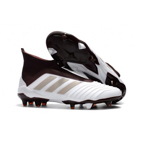 Bota de Fútbol para Hombre Adidas Predator 18+ FG - Blanco Marrón 210d8466233f0