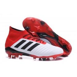 Botas de Fútbol Adidas Predator 18.1 Fg para Hombre - Blanco Rojo