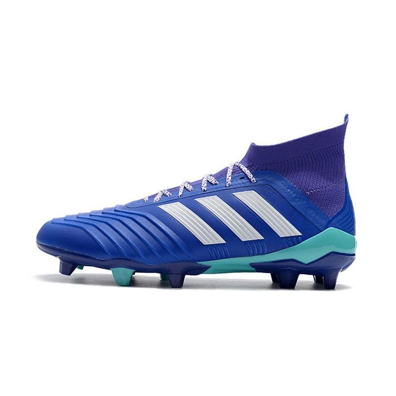 Fútbol Fg Botas Predator 18 Blanco Azul Hombre De 1 Adidas Para OcYSw5qSr 1a4591060757a