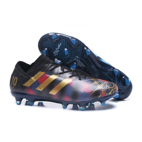 adidas Nemeziz Messi 17.1 FG botas de fútbol para hombre Negro Or