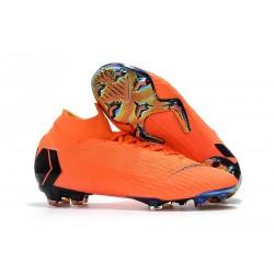 Botas de fútbol Nike Mercurial Superfly 6 Elite para adultos - Naranja Negro