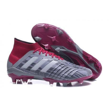 556e1d0880289 Botas de Fútbol Adidas Predator 18.1 Fg para Pogba - Gris Rojo
