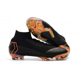 Botas de fútbol Nike Mercurial Superfly 6 Elite para adultos Negro Naranja