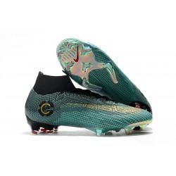 Ronaldo Botas de fútbol Nike Mercurial Superfly 6 Elite para adultos Azul Oro Negro