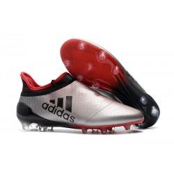 adidas X 17+ Purespeed FG Nuevo Zapatos de fútbol - Plata Rojo Negro