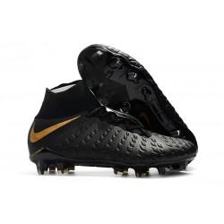 Nike Hypervenom Phantom III DF FG Nuevas Tacos de Futbol - Negro Oro