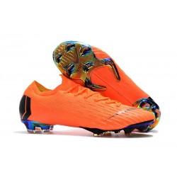 Zapatos de fútbol 2018 Nike Mercurial Vapor 12 FG - Naranja Negro
