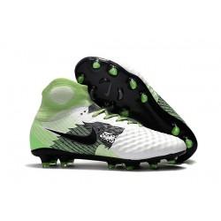 Nuevo Zapatos de Futbol Nike Magista Obra II FG - Blanco Verde