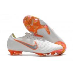 Zapatos de fútbol 2018 Nike Mercurial Vapor 12 FG - Blanco Naranja