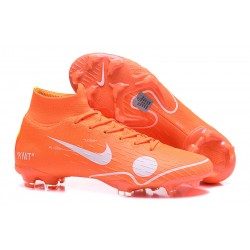 Botas Off-white 2018 Nike Mercurial Superfly VI Elite FG -Naranja