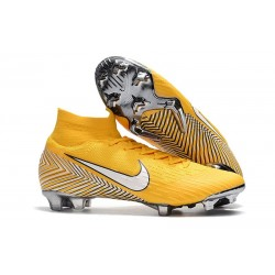 Neymar Nike Mercurial Superfly VI Elite FG Tacos de Futbol - Amarillo Blanco