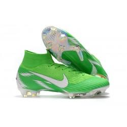 Nike Mercurial Superfly VI Elite FG Tacos de Futbol - Verde Plata
