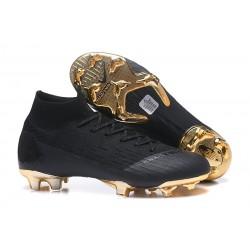Nike Mercurial Superfly VI Elite FG Tacos de Futbol - Negro Oro
