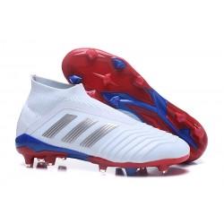 Adidas Predator 18+ Telstar FG Botas de Futbol - Blanco Plata