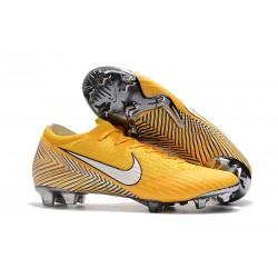Zapatos de fútbol 2018 Neymar Nike Mercurial Vapor 12 FG - Amarillo Blanco