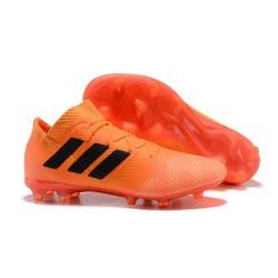adidas Nemeziz Messi 18.1 FG Bota de Fútbol Copa Mundial - Naranja Negro