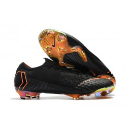 Zapatos de fútbol 2018 Nike Mercurial Vapor 12 FG - Negro Naranja