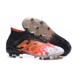 Adidas Predator 18.1 Telstar Fg Taco de Fútbol - Negro Rojo