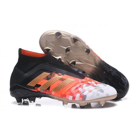 Adidas Predator 18+ Telstar FG Botas de Futbol - Negro Rojo d8ef59be71300