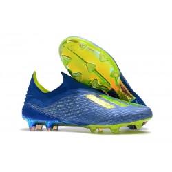 Botas de Fútbol adidas X 18+ FG - Azul Verde