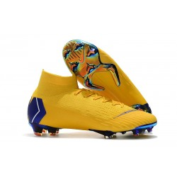 Nike Mercurial Superfly VI Elite FG Tacos de Futbol - Amarillo Azul