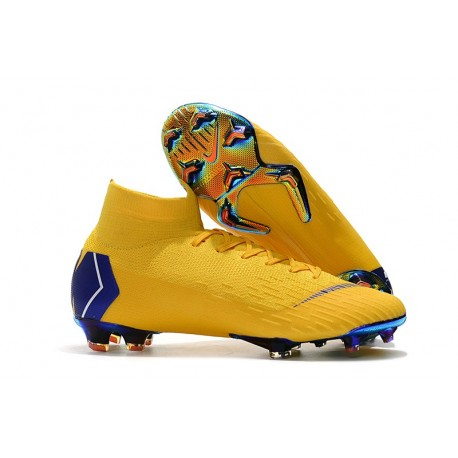 sale retailer 51b1b 6fb48 Nike Mercurial Superfly VI Elite FG Tacos de Futbol - Amarillo Azul