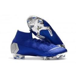 Botas de Fútbol Nike Mercurial Superfly VI 360 Elite FG - Azul Plata